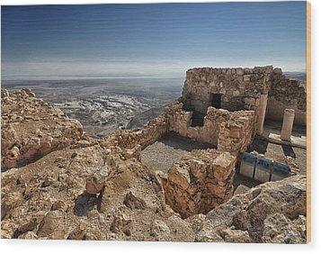 Fortress Of Masada Israel 1 Wood Print by Mark Fuller