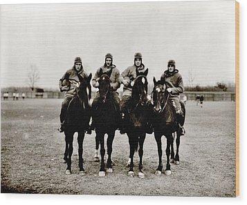 Four Horsemen Wood Print by Benjamin Yeager