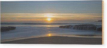 Four Mile Beach Sunset Wood Print by Loree Johnson