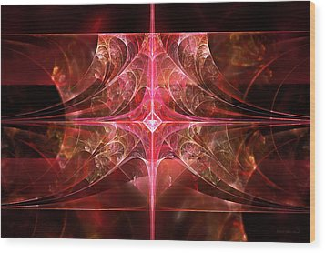 Fractal - Abstract - The Essecence Of Simplicity Wood Print by Mike Savad
