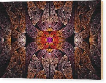Fractal - Aztec - The Aztecs Wood Print by Mike Savad