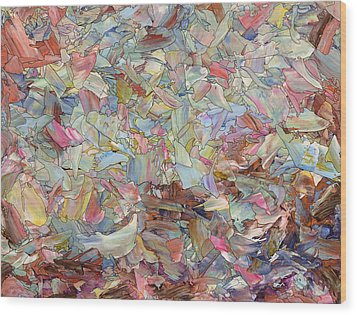 Fragmented Hill Wood Print by James W Johnson