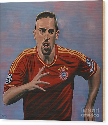 Franck Ribery Wood Print by Paul Meijering