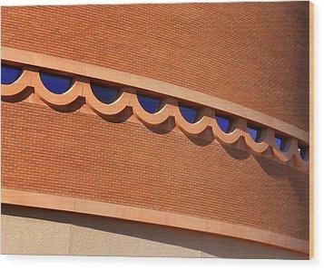 Frank Lloyd Wright Designed Auditorium Window Detail Wood Print by Karyn Robinson