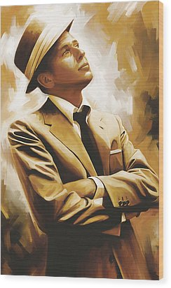Frank Sinatra Artwork 1 Wood Print by Sheraz A