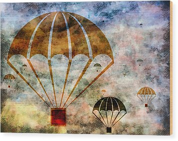 Free Falling Wood Print by Angelina Vick
