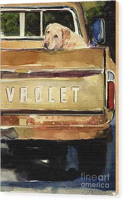 Free Ride Wood Print by Molly Poole