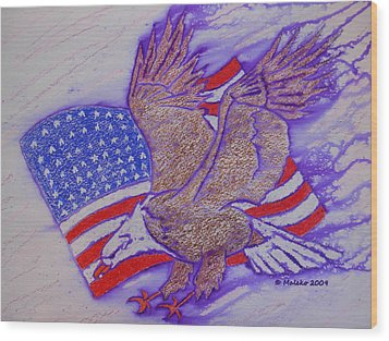 Freedom Reigns Wood Print by Mark Schutter