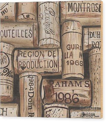 French Corks Wood Print by Debbie DeWitt