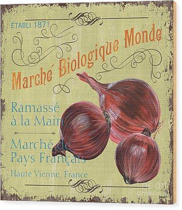 French Market Sign 4 Wood Print by Debbie DeWitt