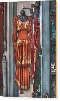 French Quarter Clothing Wood Print by Brenda Bryant