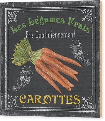 French Vegetables 4 Wood Print by Debbie DeWitt