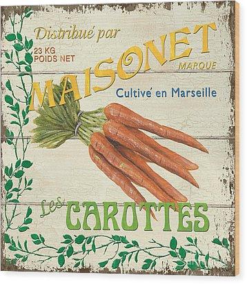 French Veggie Sign 2 Wood Print by Debbie DeWitt