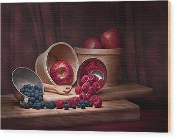 Fresh Fruits Still Life Wood Print by Tom Mc Nemar