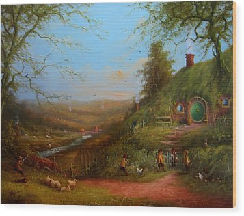 Frodo's Inheritance Bag End Wood Print by Joe  Gilronan