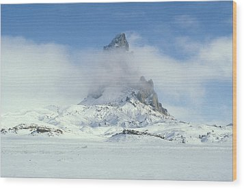 Frozen Peak 1001 Wood Print by Brent L Ander
