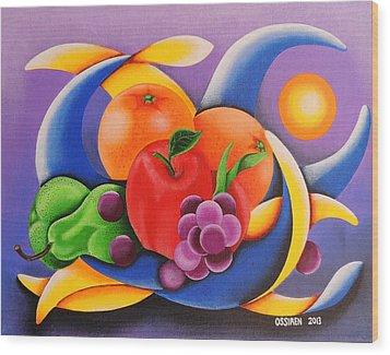 Fruit Wood Print by Oswaldo Cevallos