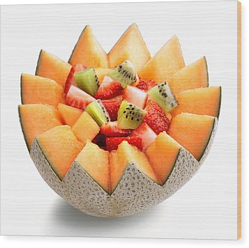Fruit Salad Wood Print by Johan Swanepoel