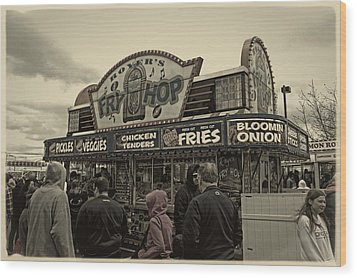 Fry Hop Wood Print by Tom Gari Gallery-Three-Photography