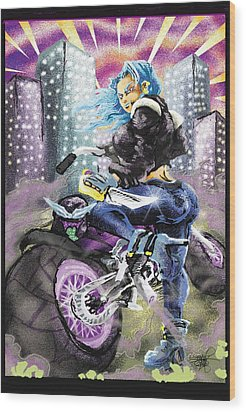 Full Throttle  Wood Print by Ronnell Williams