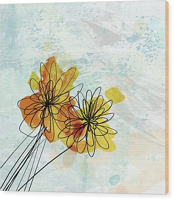 Fun Flowers  Wood Print by Ann Powell