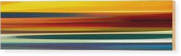 Fury Seascape Panoramic 2 Wood Print by Amy Vangsgard