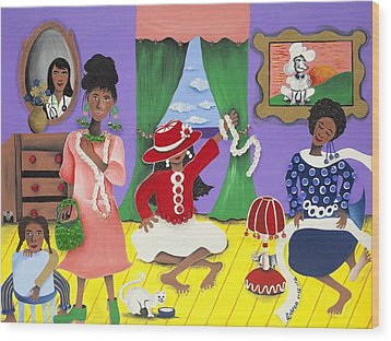 Future Reservations Wood Print by Patricia Sabree