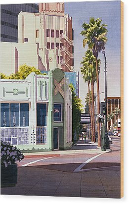 Gale Cafe On Wilshire Blvd Los Angeles Wood Print by Mary Helmreich