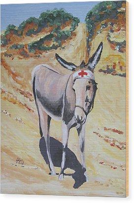 Gallipoli Donkey Wood Print by Leonie Bell