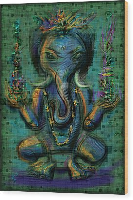 Ganesha Too Wood Print by Russell Pierce