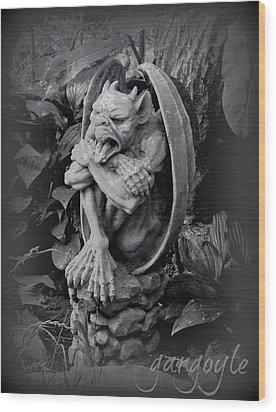 Gargoyle Wood Print by Brenda Conrad