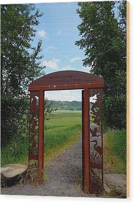 Gateway To The Trail Wood Print by Lizbeth Bostrom