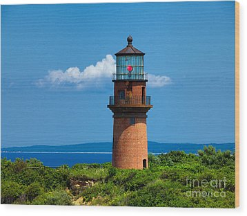 Gay Head Light Wood Print by Mark Miller