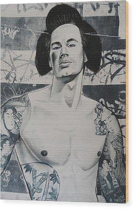 Gaysha Wood Print by Carmine Santaniello