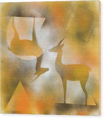 Gazelles Wood Print by Hakon Soreide