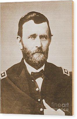 General Ulysses Grant C1865 Wood Print by Padre Art