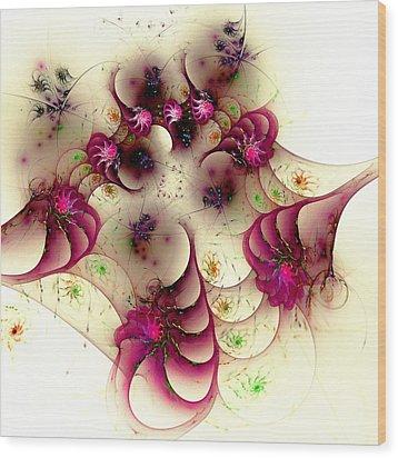 Gentle Pink Wood Print by Anastasiya Malakhova
