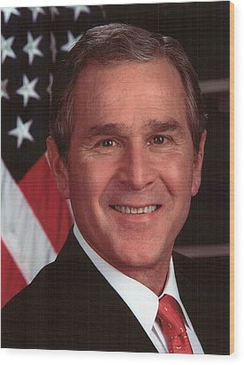 George W Bush Wood Print by Official Gov Files