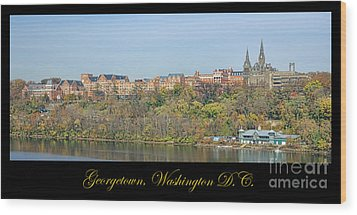 Georgetown Poster Wood Print by Olivier Le Queinec