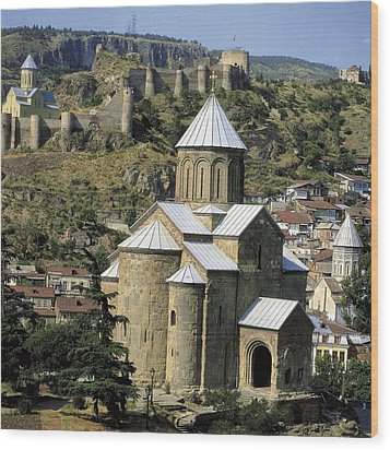 Georgia. Tbilisi. Meteki Church Wood Print by Everett