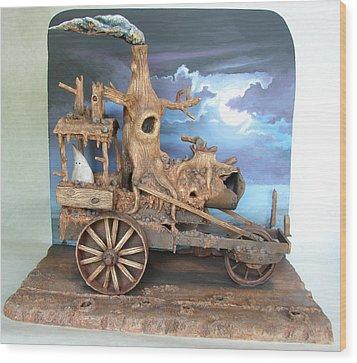 Ghost Tractor Wood Print by Stuart Swartz