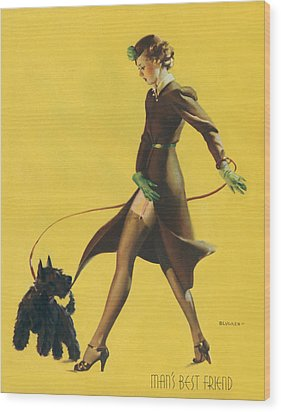 Gil Elvgren's Pin-up Girl Wood Print by Underwood Archives