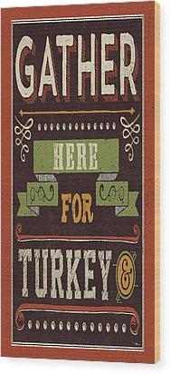 Give Thanks I Wood Print by Pela Studio
