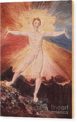 Glad Day Or The Dance Of Albion Wood Print by William Blake