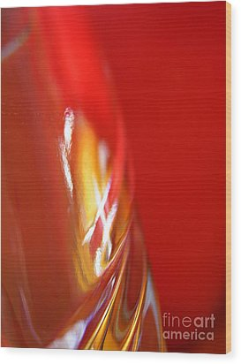 Glass Abstract 738 Wood Print by Sarah Loft