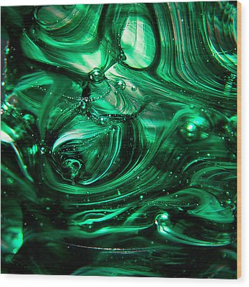Glass Macro Abstract Egw2 Wood Print by David Patterson