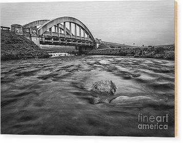 Glen Coe Bridge Wood Print by John Farnan