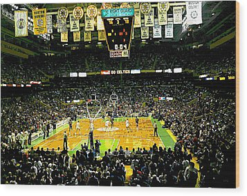 Go Celtics Wood Print by David Schneider