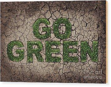Go Green Wood Print by Jelena Jovanovic