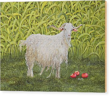 Goat Wood Print by Ditz